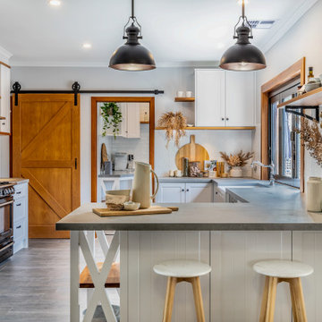 Modern Farmhouse Kitchen with Blackwood Timber Features