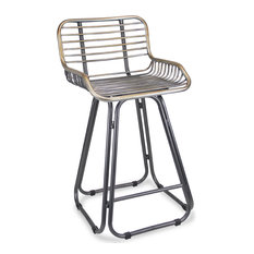 Metal Chair With Back And Arm Rests