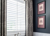 What is the pattern name and brand of the curtain fabric?