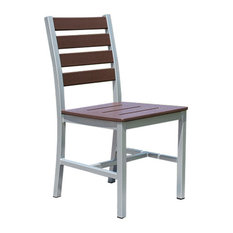 Loft Outdoor Dining Chair, Sand Seat and Back, White Frame (set)