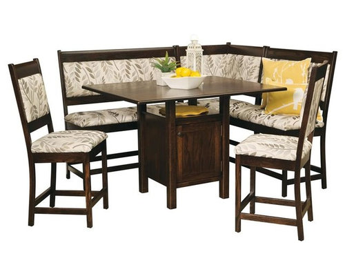 amish high country counter height breakfast nook set dining benches amish corner breakfast nooks