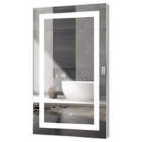 "Kent LED Mirror With Touch Sensor, 28""x48"""