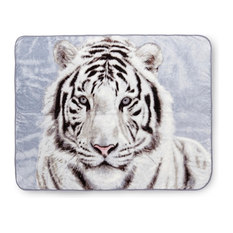 Shavel Home Products - White Tiger High-Pile Oversized Throw - Throws