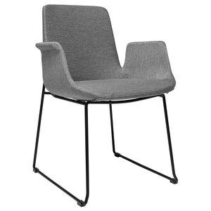 Brooklyn Arm Chair, Light Gray