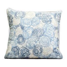 "Decorative Pillow Cover, Kravet Fabric, Modern Circles, 22""x22"""