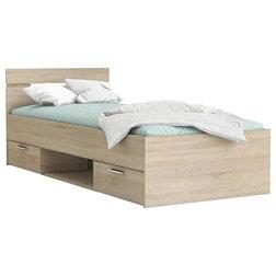 Modern Panel Beds by Meubles Demeyere