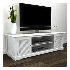 VidaXL White Wooden TV Stand