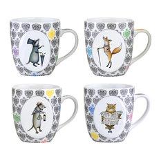 Bia Funimal Mugs, 4-Piece Set