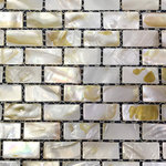 CHOIS - Lot 12 Sheets B03 Mother Of Pearl Shell Backsplash I-Shaped Rectangle Tiles - Note: If you have any concerns that these tiles will not be suitable for your particular application,please buy a sample first to make sure.