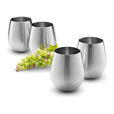 18/8 Stainless Steel Wine Stemless Glasses, Set of 4