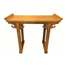 Elm Chinese Altar Table Light Honey Color 42-inch
