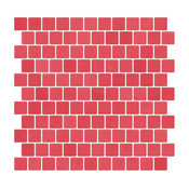 Coral Red Recycled Glass Tile With Matte Finish, Full Sheet