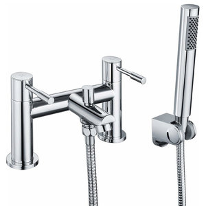 Bath Shower Mixer Tap, Solid Brass With Chrome Plated Finish, Modern Style