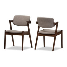 Elegant Dining Chair in Gray (Set of 2)