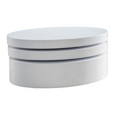 GDF Studio Kendall Oval Mod Swivel Coffee Table
