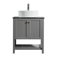 transitional bathroom vanities houzz. Black Bedroom Furniture Sets. Home Design Ideas