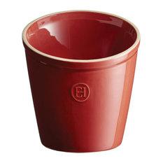 Emile Henry Burgundy Ceramic 5.5 Inch Utensil Pot