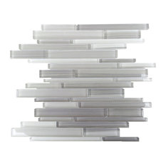 "12""x12.25"" Horizon Glass Tiles, Set of 11, Gray"