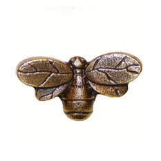 Bee Cabinet Knob, Antique Copper