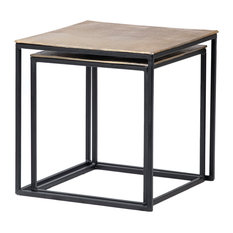 Brass And Black Nesting Tables
