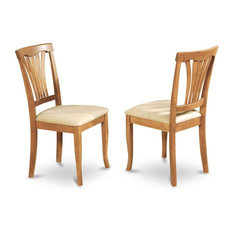 Avon Chair  With Cushion Seat, Oak Finish, Set of 2