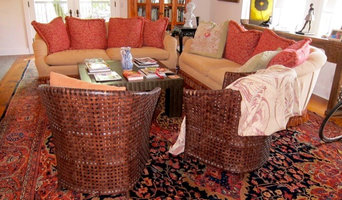 Palace Size Antique Ferahan Carpet in a Living Room