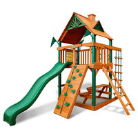 Gorilla Playsets Chateau Tower Swing Set With Timber Shield