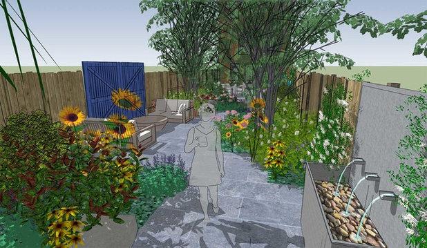 Landhausstil Rendering by Todd Haiman Landscape Design