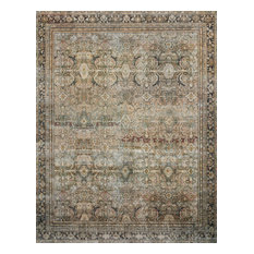 """Olive Charcoal Layla Printed Area Rug by Loloi II, 7'-6""""x9'-6"""""""
