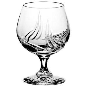 Monika Aurora Lead Crystal Cognac Glasses, Large, Set of 6