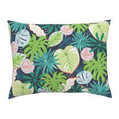 Large Tropical Tropical Cotton Pillow Sham, Euro