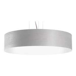 Veneli Slim Pendant Light, Light Grey Ash Veneer, Large
