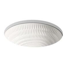 "Kohler Derring 17"" X 14"" Under-Mount Bathroom Sink, Translucent White"