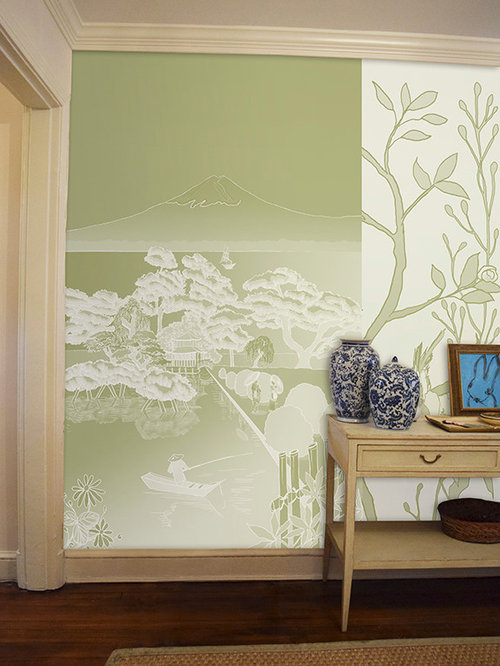 Chinoiserie japan murals scenoiserie collection for Chinoiserie wall mural