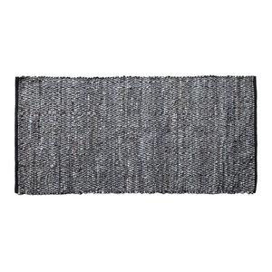 Elisa Large Diamond Leather Rug, 140x200 Cm