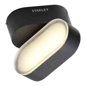 Stanley Medway Outdoor LED Swivel Wall Light, Black