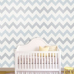 """Stiched Zigzag Wallpaper, Baby Blues, 25"""" X 7.5' - """"Swag Paper - Empowering the Do-It-Yourselfer:"""