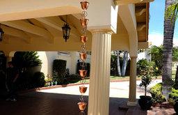 Large Cup Copper Rain Chains