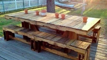 An outdoor table made from pallets that I plan to build