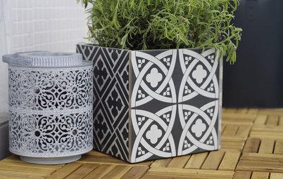 DIY: Кашпо для цветов своими руками из остатков плитки