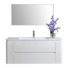 """Gwyneth Bath Vanity Set, White, 48"""""""