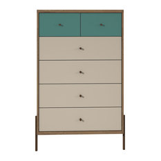 Manhattan Comfort Joy 48.43   Tall Dresser In Blue 350552
