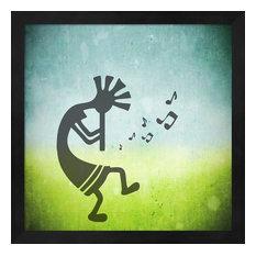 Kokopelli Music II by Unknown Framed Art, 13.25x13.25