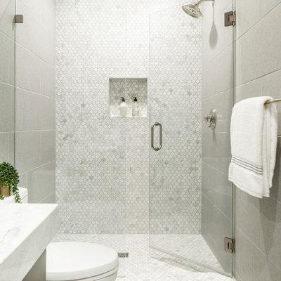 Home design - small transitional home design idea in Phoenix