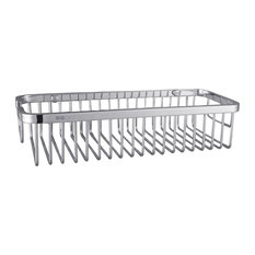 """Ucore 10.5""""x5""""x2.5"""" Stainless Steel Wall Mounted Shower Rectangular Basket"""