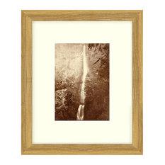 """Multnomah Falls"" Oregon Sepia Tone Framed Photo, 22""X29"""