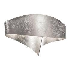 Scudo Metal Leaf LED Wall Light, Silver Leaf