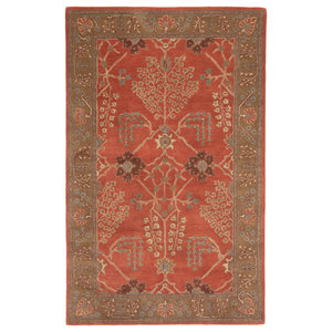 Rugsville Modern And Stylish Desa Handmade Rust Wool Rug 5 X 8 Contemporary Area Rugs By Rugsville