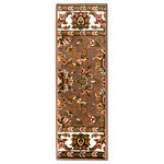 """Natural Area Rugs - Sydney Polypropylene Stair Treads Carpet, Chocolate, 9"""" X 29"""" Set of 8 - Sydney Stair Treads are made with a classic Persian design that incorporates floral motifs. They are made with 100% Polypropylene, a soft and durable material sure to look elegant in your home, and feature vivid colors that will not fade away. Every day will feel like you are walking into an exotic location surrounded by beautiful handmade wares. Sydney Carpet Stair Treads look positively gorgeous in any home. For installation: Use intertape double-sided heavy duty carpet tape or use carpet nails/tacks (not included). Carpet stair treads are an asset for every home, offering beauty as well as safety. Not only do they protect against slips and falls, they also cushion every step you, your family, and your guests take on the stairs. This cushioning saves wear and tear on your joints and muscles, and minimizes noise, adding comfort while decreasing danger."""
