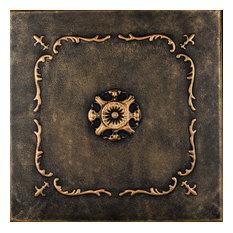 """20""""x20"""" Bourbon Street, Styrofoam Ceiling Tile, Black Gold"""